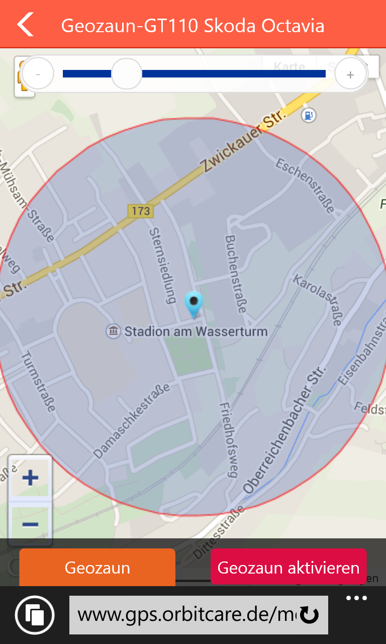 Ortungsportal GPS Orbitcare